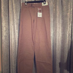 Brown Checkered Wide Pants
